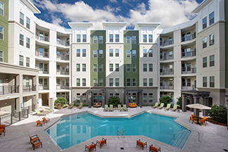 swimming pool at The Ivy Residences at Health Village in Orlando Florida