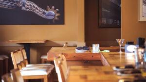 bar shot at Soco restaurant in Thornton Park in Orlando Florida
