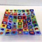 """Case Island Glass - 12"""" Multi Square Bowl"""