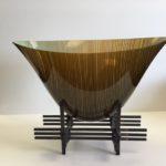High Cliff Studios - Dark Half Weave Oval Bowl