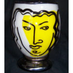 Bernstein Glass - Open Form with Yellow Face