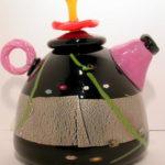 R.K.S Glass - Black Teapot