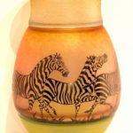 Gary Genetti Glass - Zebra Vase
