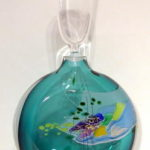 GlassHouse Studio - Teal Perfume Bottle