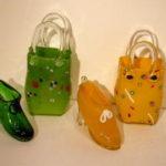 Hot Glass Studios - Handbag and Shoes Green and Yellow