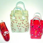 Hot Glass Studios - Handbag and Shoes Red and White