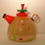 R.K.S Glass - Peach Teapot