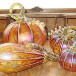 C&H Glass Works - Amber Pumpkins