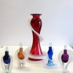 Vitrix Hot Glass Studio - Perfume Bottles and Ruby Vase
