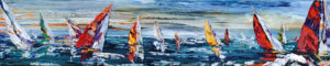 "Maya Eventov - Sailboats, 15""x72"""