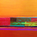 Mirjam Felder - Abstract Vertical Orange