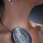 Suzanne Schwartz - Freeform Stitched Earrings & Necklace