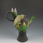 Nancy Yturriaga Adams - Horny Toad Teapot