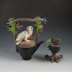 Nancy Yturriaga Adams - Owl Oak Teapot with Cup