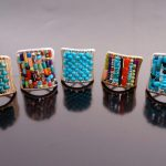 Tana Acton Designs - Heishi and Plait Ring Group