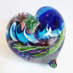 Tropical Iceberg Glass - Heart 2