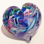 Tropical Iceberg Glass - Heart 1
