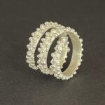 Dahlia Kanner - Bumpy Spiral Rings