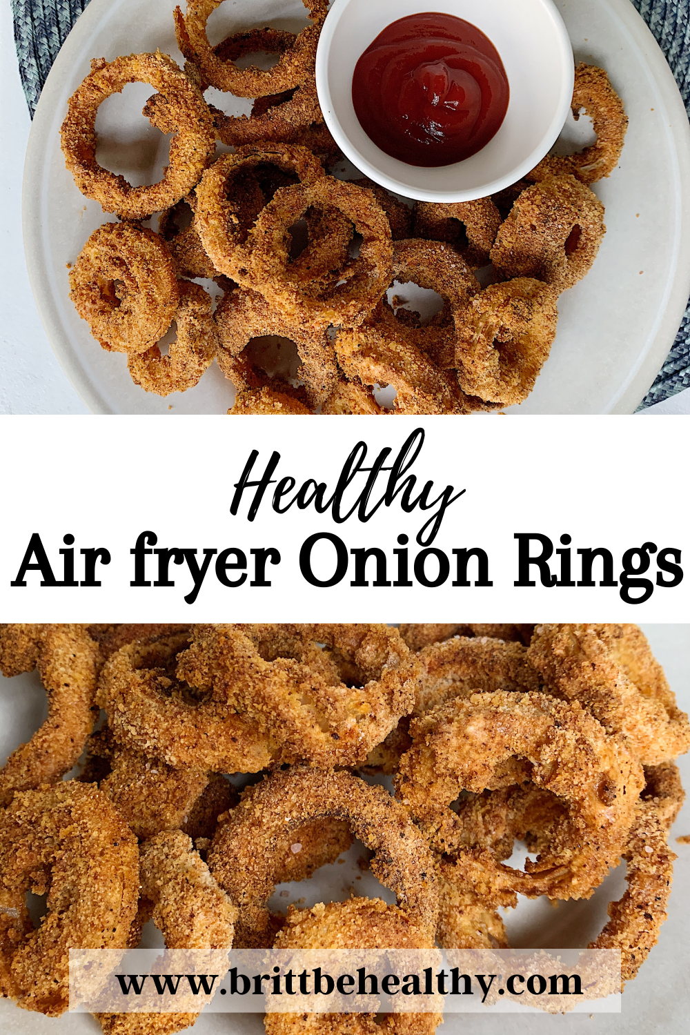 Healthy Air Fried Onion Rings