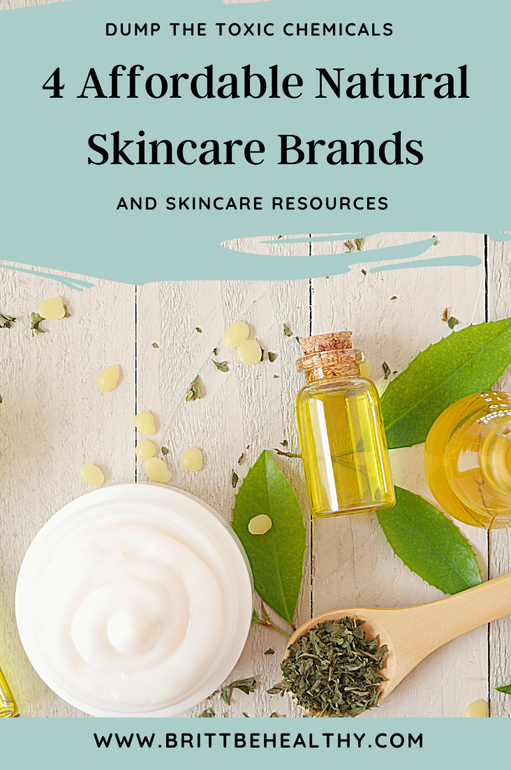 4 affordable natural skincare brands and skincare resources