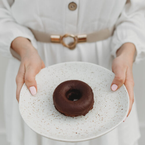 Chocolate healthy protein donut