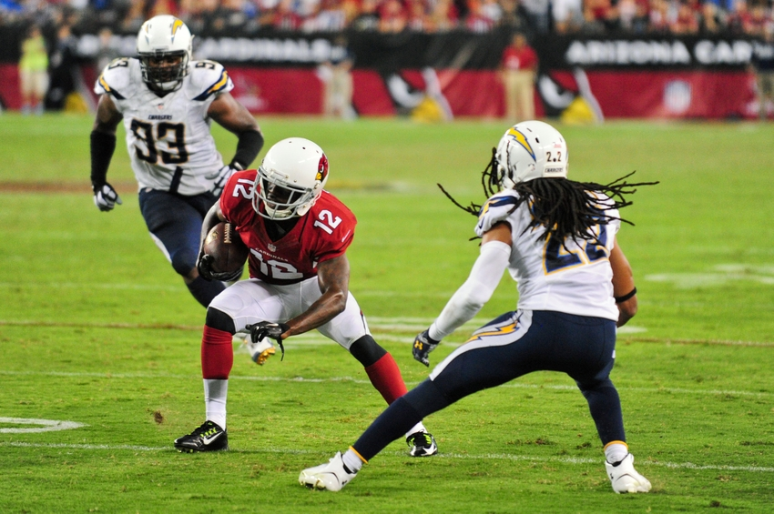 Sep 8, 2014; Glendale, AZ, USA; Arizona Cardinals wide receiver <a rel=