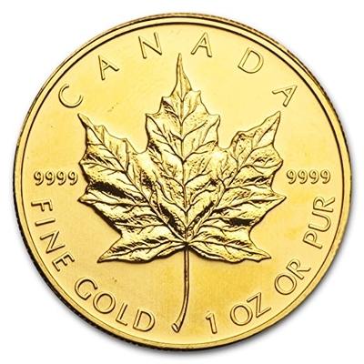 1 oz Gold Maple Leaf coin