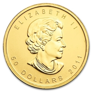1 oz Gold Maple Leaf coins