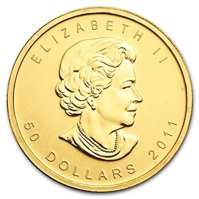 1 oz Gold Maple Leaf coins