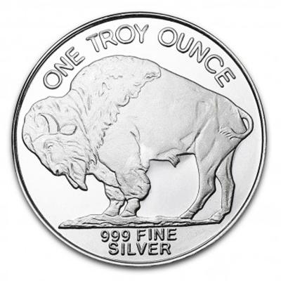 1 oz Silver Round - Buffalo coins