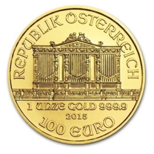 1 oz Gold Philharmonic Coins