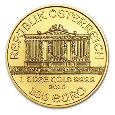 1 oz Gold Philharmonic Coins