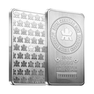 10 oz Royal Canadian Mint .9999 Bars (Sealed)