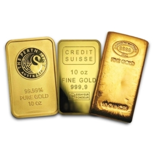 10 oz Gold Bars