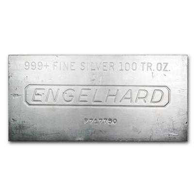 100 oz Engelhard Silver Bar
