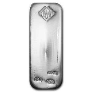 100 oz Silver Bar Johnson Matthey