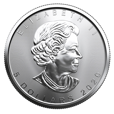 2020 1 oz Canadian Silver Maple Leaf Coin