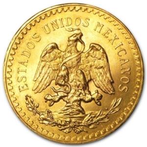 Gold 50 Pesos Centenario coins