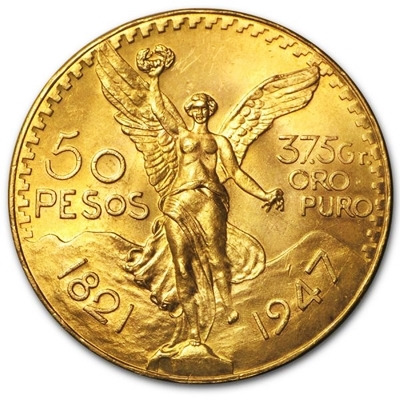 Gold 50 Pesos Centenario