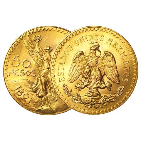 Mexico Gold 50 Pesos (Random)