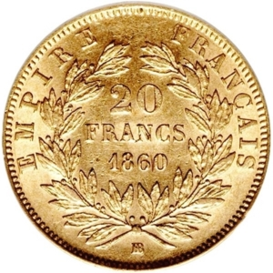 20 Franc Napoleon French Gold