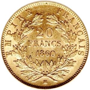 20 Franc Napoleon French Gold