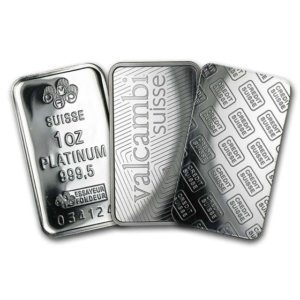 1 oz Platinum Bar .999+