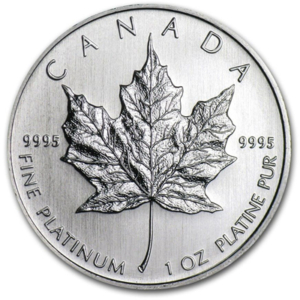 1 OZ PLATINUM CANADIAN MAPLE LEAF COIN
