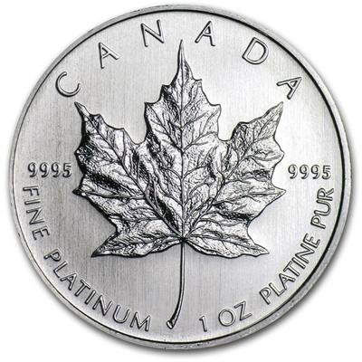 1 OZ PLATINUM CANADIAN MAPLE LEAF COIN
