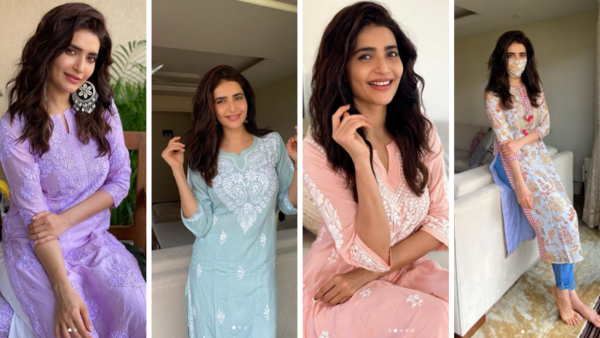 4 Karishma Tanna Kurtas to Add to Your Ethnic Wardrobe