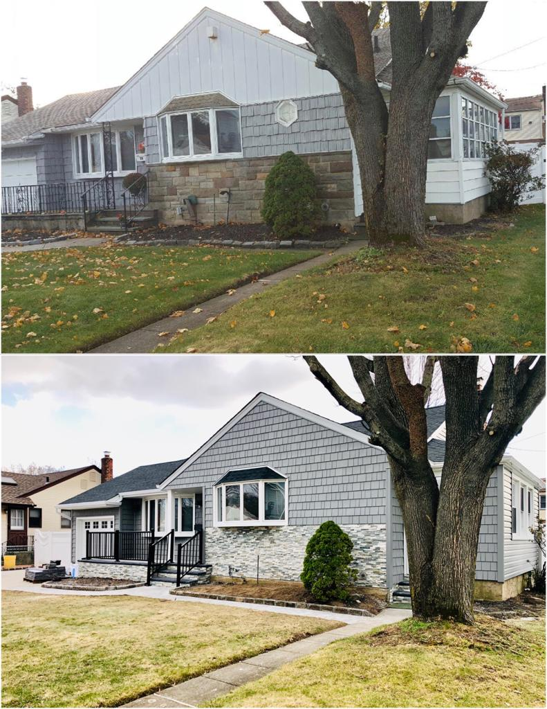 Exterior Home Renovation Before & After