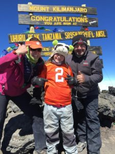 My youngest daughter, Jackie and her father, Tony on the summit of Mt. Kilimanjaro with She CLIMBS January 2016