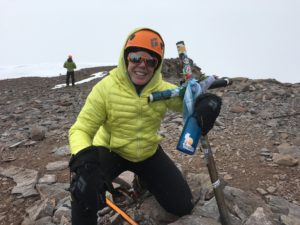 Alphavest CEO, Cokie Berenyi at the summit of Mt. Aconcagua