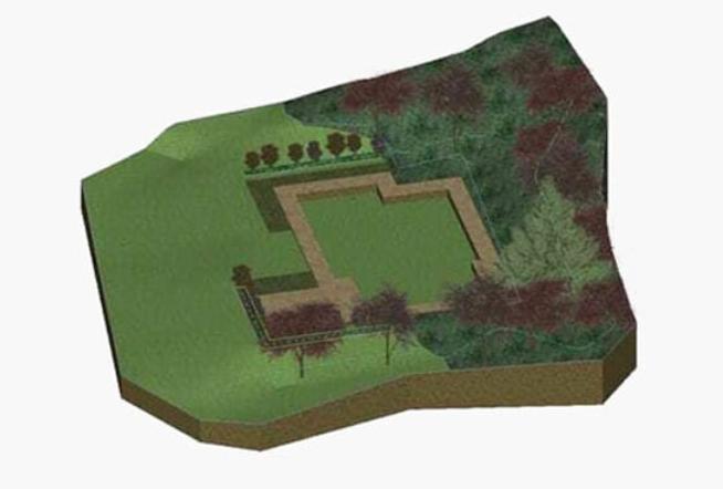 Modelo digital terreno BIM Software para paisajismo